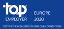 лого топ емплойър Европа 2020