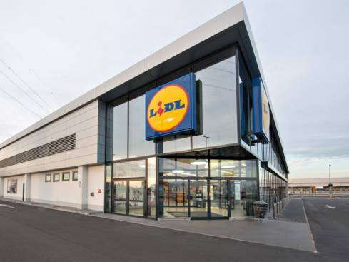Новопостроен магазин Лидл преди отваряне